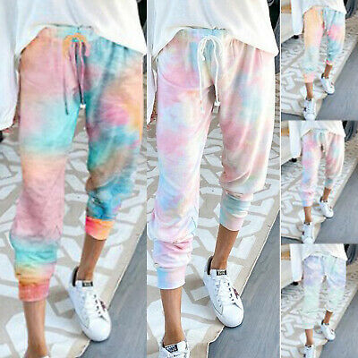 AU23.27 • Buy Womens Summer Pants Jogger Sports Yoga Harem Pants Trousers Jogging Sweat Pants