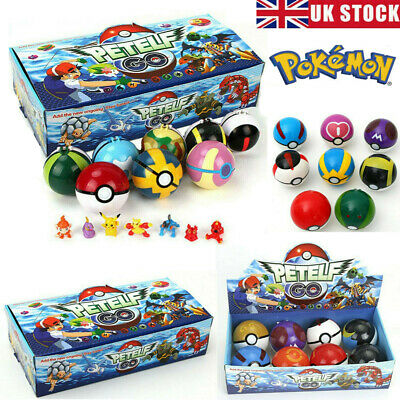For Pokemon GO 2.8'' 8Pcs Pokeball Ball Set Action Figures Christmas Toy Gift UK • 15.48£