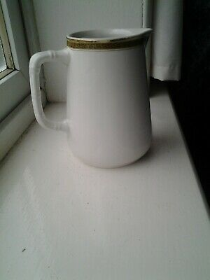 Sampson Bridgwood Lifelong Ironstone Milk Jug 500ml Gold Rim • 11£