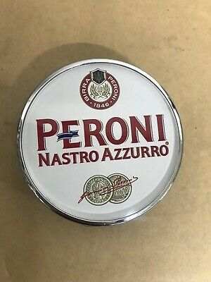 Peroni Nastro Azzurro Beer Pump Round Beer Badge Clip Slightly Used But In Good • 10£