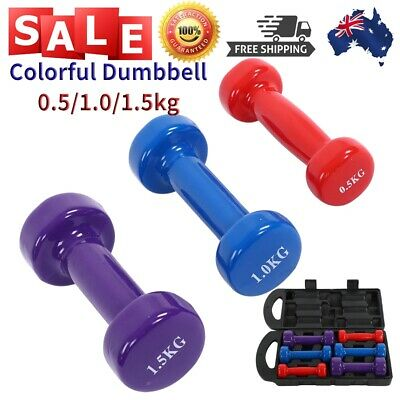 AU40.94 • Buy Women 6KG Dumbbell Weight Lifting Dumbbell Training Colorful Body Building