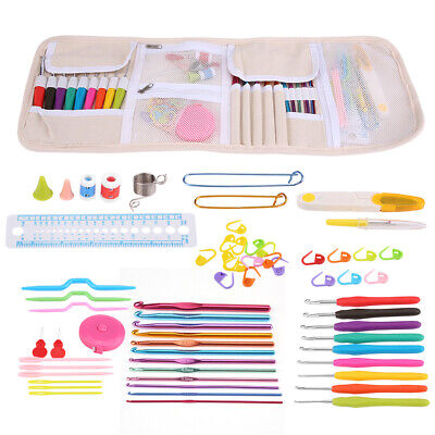 £16.09 • Buy Knitting Cable Stitch Needle Crochet Hook Marker Tape Measure Weaving Tool GO