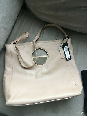 £45 • Buy BNWT Large M&S Marks & Spencer Autograph Soft Leather Nude Bag Tote Shopper