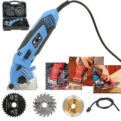 New 2020 Mini Circular Saw Strong Tool 54.8MM Wood Tile Metal Blades Guide 400W • 33.89£