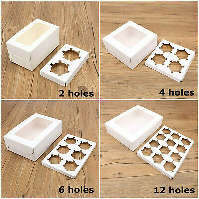 AU10.32 • Buy NEW Cupcake Box Cases 2/4/6/12 Hole Window Face Cases Party Wedding