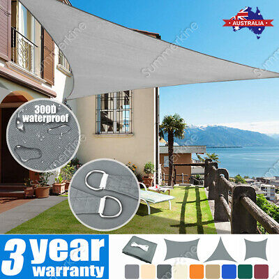 AU41.66 • Buy Extra Heavy Duty Shade Sail Shade Cloth Grey Gray Sun Triangle Square Rectangle