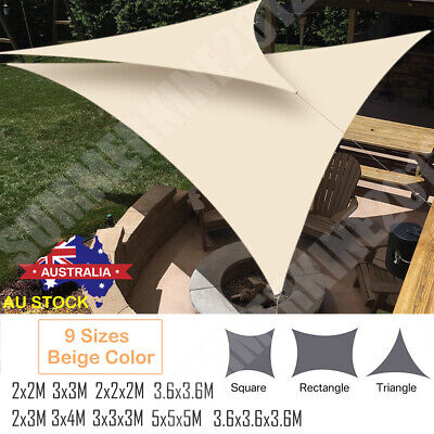 AU41.42 • Buy UV Block Shade Sail ShadeCloth Heavy Duty Sun Canopy Triangle Square Rectangle