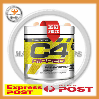 AU52.99 • Buy CELLUCOR C4 RIPPED PRE-WORKOUT FAT BURNER 30 SERV SHRED FAT + Express Post