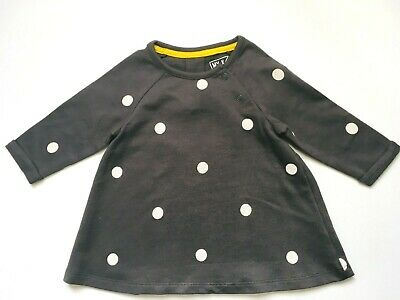 Baby Girls Black Polka Dot Dress New Ex My K For Mothercare Age NB To 9 Months • 9.31£