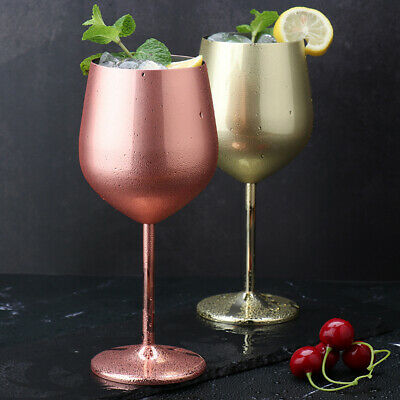 Outdoor Wine Glasses Goblet Stainless Steel Drinking Cup Champagne Cocktail • 8.23£