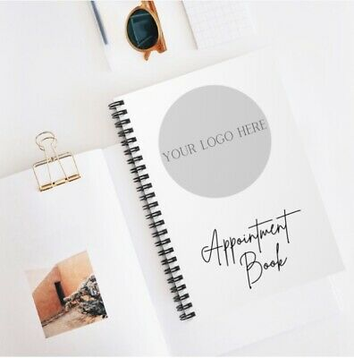 £10 • Buy Logo / Personalised Appointment Book, Business Appointment Book A5