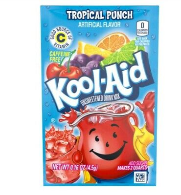 Kool-Aid Drink Mix Tropical Punch 8 Packets New !!!!!!!!!!!!!!!!!!!!!!!!!!!!!!!! • 4.33£