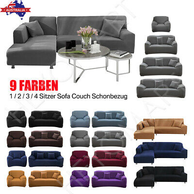 AU26.60 • Buy Sofa Covers 2 3 4 Seater Lounge Couch Recliner Chair Stretch Slipcover Protector