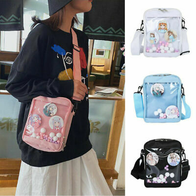 Anime Japanese Lolita Girl Cute Canvas Itabag Transparent Messenger Shoulder Bag • 7.99£