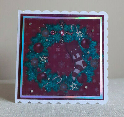Personalised Spooky Gothic Christmas Card. Gothic Christmas Wreath • 3.75£