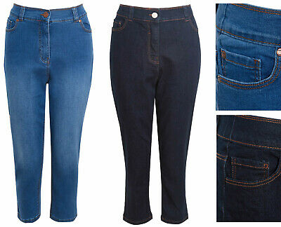 Ladies Cropped Jeans Womens Simply Be Cotton Elastane UK14-32 Plus Size RRP £28 • 9.95£