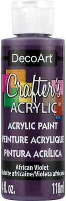 Crafter's Acrylic All Purpose Paint 4oz African Violet - Purple 766218013675 • 11.45£