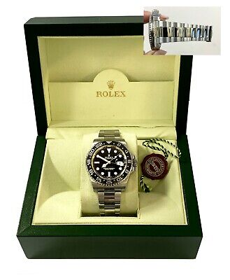 $ CDN15634.29 • Buy Rolex GMT Master II 116710 Black Dial Ceramic Bezel Stainless Steel Box 40mm