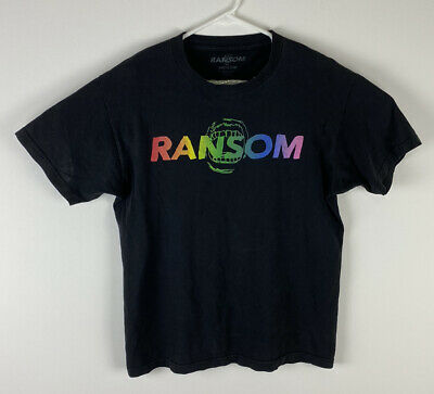 AU23.45 • Buy Men Ransom Clothing Rainbow Graphic Spell-out Cotton Short Sleeve T-shirt, M