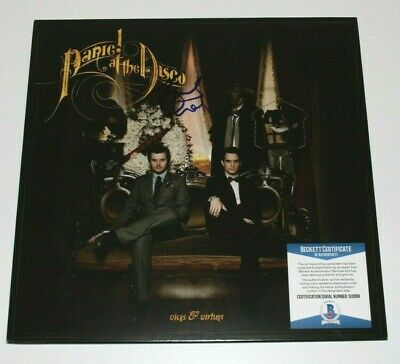 Panic! At The Disco Brendon Urie Signed Vices & Virtues Vinyl Album Lp Beckett • 414.16£