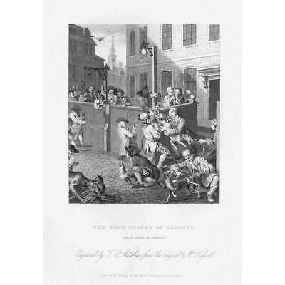 WILLIAM HOGARTH Four Stages Of Cruelty: First - Antique Print 1833 • 9.95£