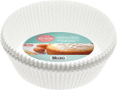 £5.99 • Buy 30 Pack CAKE LINERS 16cm Non Stick Grease Proof Round Paper Cake Tin Liner New ✔