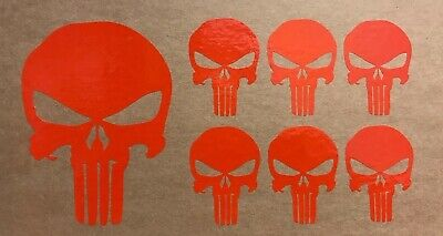 Punisher Skull Vinyl Sticker CAR - VAN - WALL - DOOR - 1 Large 6 Small  • 1.99£