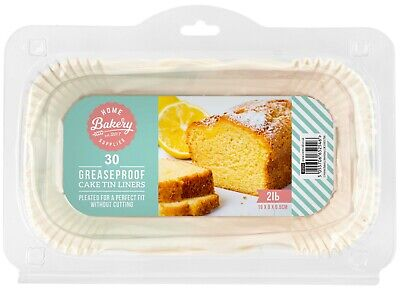 £6.29 • Buy 30 X Loaf Tin Liner Paper 2LB Non-Stick Grease Proof Bread Baking Case Parchment