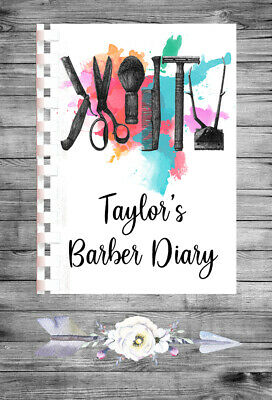 £9.75 • Buy Personalised A4 Appointment Book/Diary - Beauty - Barber - Hair - BP1