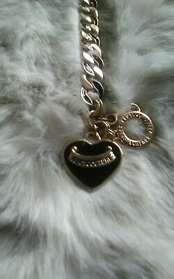 Juicy Couture Chunky Charm Bracelet Gold&black Enamel Decoration • 8£