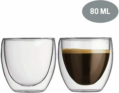 80ml Double Walled Espresso Coffee Cups • 9.99£