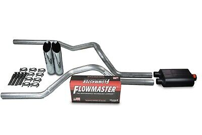 $270.10 • Buy Chevy Silverado GMC Sierra 99-06 2.5  Dual Exhaust Flowmaster Super 40 Chrome Ti