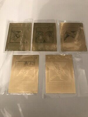 Yu Gi Oh Gold Plated Exodia The Forbidden One - Complete 5 Card Set • 34.99£