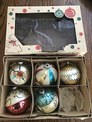 $ CDN38.11 • Buy Vintage Glass Christmas Ornaments Made In West Germany Lot Of 5