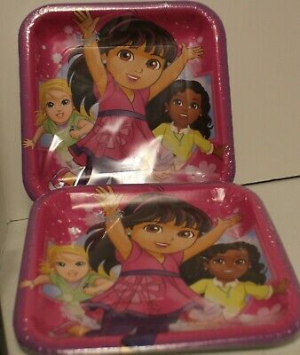 Set Of 2 - Dora And Friends Party Supplies 9  Paper Lunch Plates-16Ct. • 4.23£