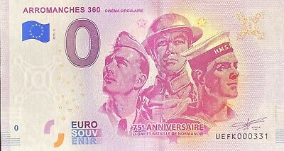 Ticket 0 Euro Arromanches 360° France 2019 Number Various • 4.40£
