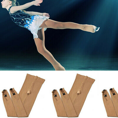 Ice Figure Stocking Girls Women Over-the-Boot Footed Skating Tights Bump S/M/L • 12.25£