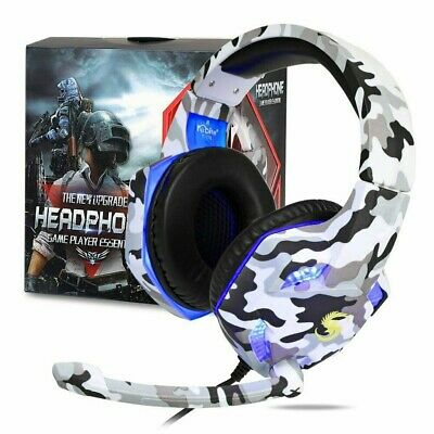 AU39.98 • Buy Gaming Headset MIC LED Headphones Surround For PC Mac Laptop PS4 Xbox One 3.5mm