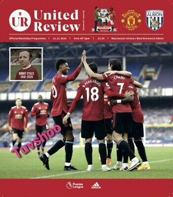 Manchester United V West Brom Bromwich Albion 21/11/20 Programme! • 8.49£