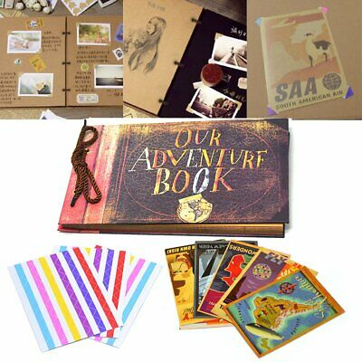 Beauty Vintage Memory Our Adventure Book Photo Albums For Gifts Big Promotion • 7.99£