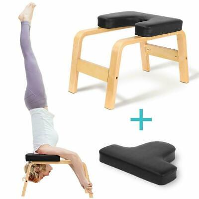 Fitness Yoga Chair Inversion Bench Workout Headstand Yoga Stool With Cushion • 35.99£