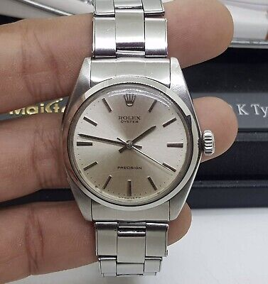 $ CDN2593.77 • Buy Vintage Rolex1970 Oyster Precision 6426 34mm Silver Dial SS Wrist Watch
