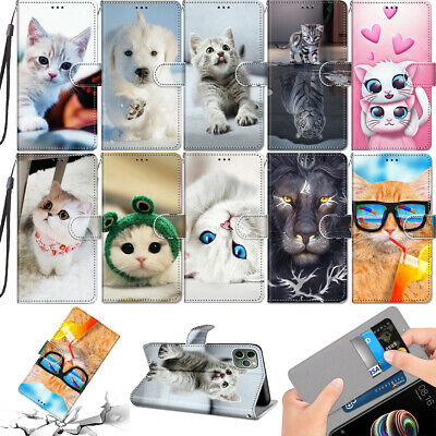 $ CDN8.37 • Buy Cute Magnetic Leather Strap Flip Case Cover For Alcatel Samsung Galaxy Xiaomi