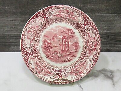 $50 • Buy Petrus Regout Holland Maastricht SAMARCAND 8.25  Pink Red Transferware Plate HTF