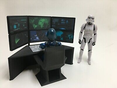$ CDN39.19 • Buy CUSTOM SURVEILLANCE TABLE MONITORS For 3.75 Inch FIGURE DIORAMA GI JOE 1:18