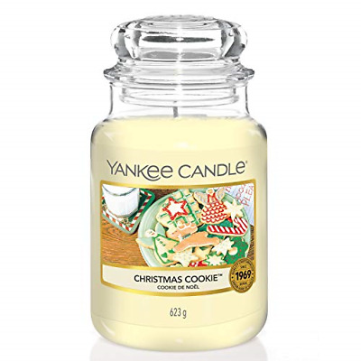 Yankee Candle Scented Candle | Christmas Cookie Large Jar Candle | Burn Time: Up • 20.99£