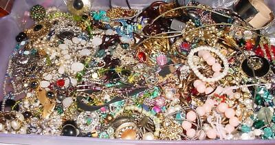 $ CDN74.03 • Buy Huge Lot Jewelry Vintage Now Junk Craft Box FULL 5 POUNDS Brooch Necklace MORE