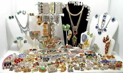 $ CDN48 • Buy 1 LB Pound Jewelry Vintage Modern Huge Lot ALL GOOD Wear RESELL Pirate Treasure