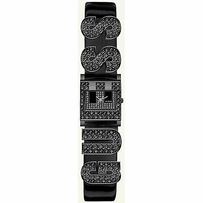 $ CDN88.81 • Buy Guess Women's Black Swarovski Crystal G Logo Patent Leather Square 22mm Watch