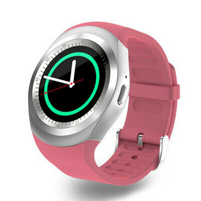 Y1 Smart Bluetooth Watch Phone Mate Sim Card Round Touch Screen For Android IOS • 13.21£
